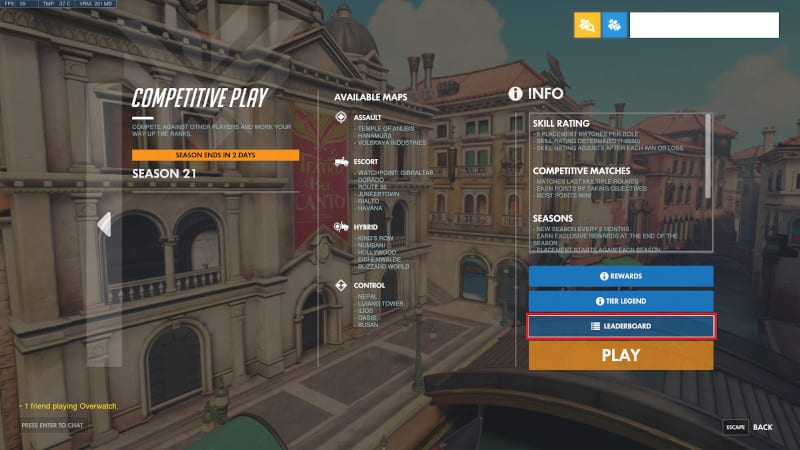 Overwatch Ranks And Skill Ratings System